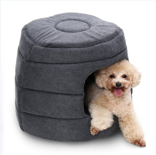 2 In 1 Pet Dog Beds Warm Pet House Luxury Dog - pawslove1