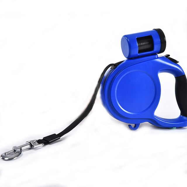 Retractable Leash with garbage bags dispenser.