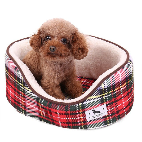 Ultra Soft Plush Dog Bed - pawslove1