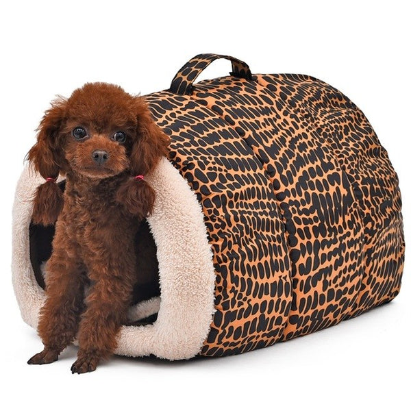 Leopard Easy to Carry Pet Bed. - pawslove1