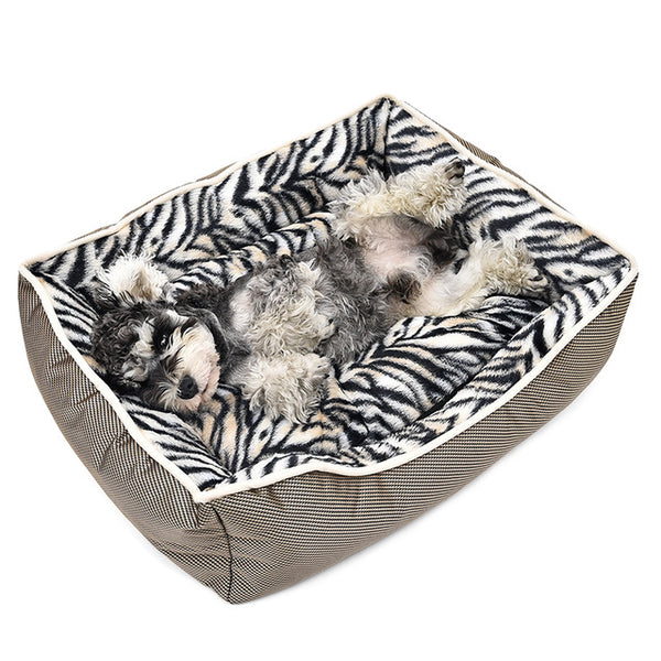 Soft Dog Bed Zebra Pattern. - pawslove1