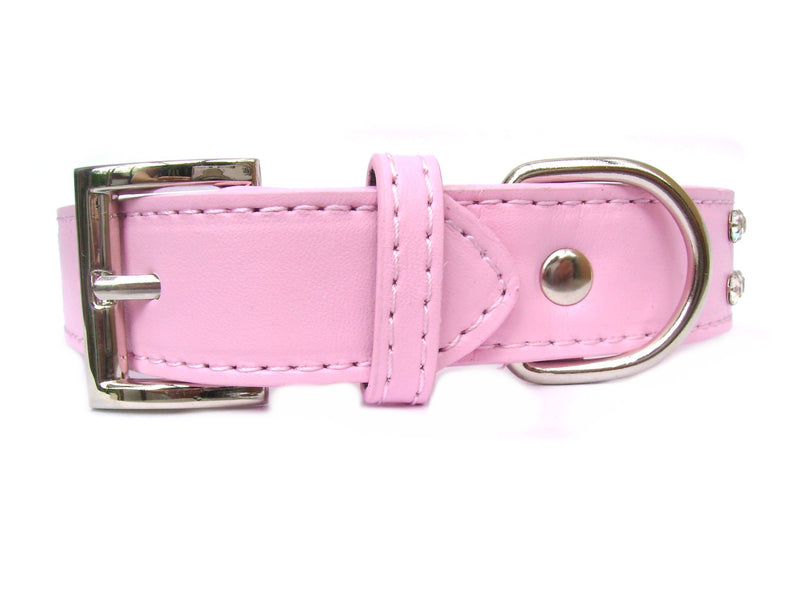 2-Row Collar Leash Set - Baby Pink - pawslove1