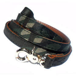 Army fabric Dog Lead. - pawslove1