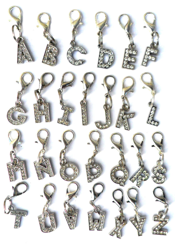 A-Z Crystal Letter Pet Charms - pawslove1