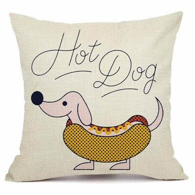 Dachshund Style Cushion Cover. - pawslove1