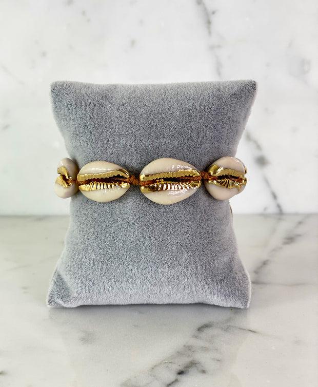 GOLD DIPPED SHELL BRACELET