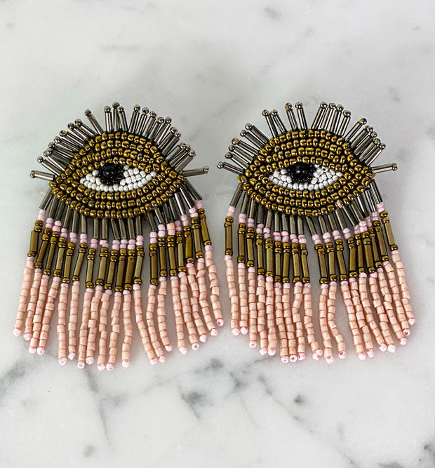 EGYPTIAN EYE EARRING