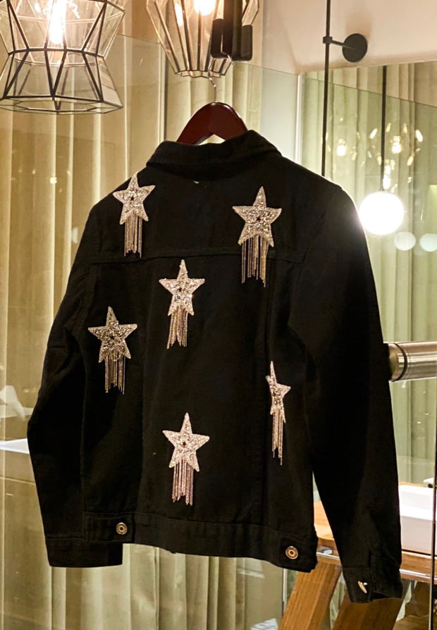 ROCKSTAR BLACK DENIM JACKET