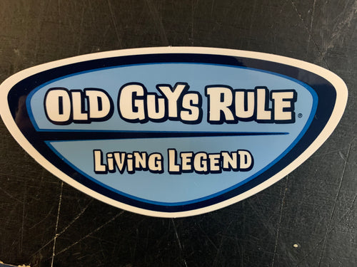 Living Legend Badge Decal Old Guys Rule