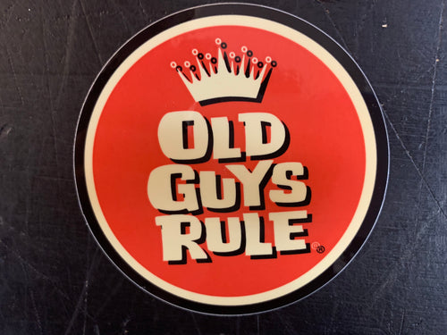 Red Crown Decal Old Guys Rule