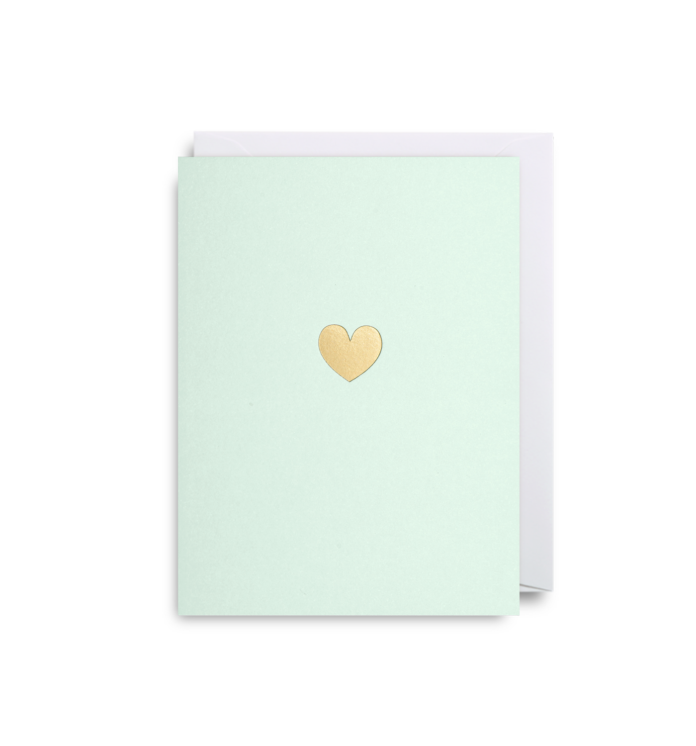 Gold Love Heart - Mini Card - Five And Dime