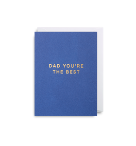 'Dad You're The Best' - Mini Card - Five And Dime