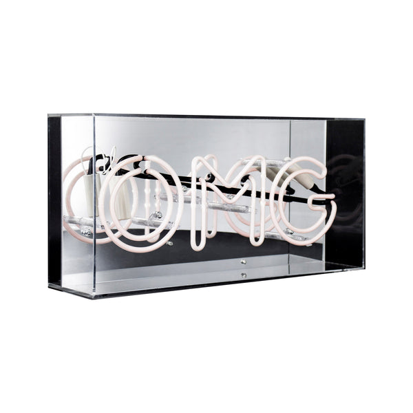 'OMG' Acrylic Box Neon - Pink - Five And Dime
