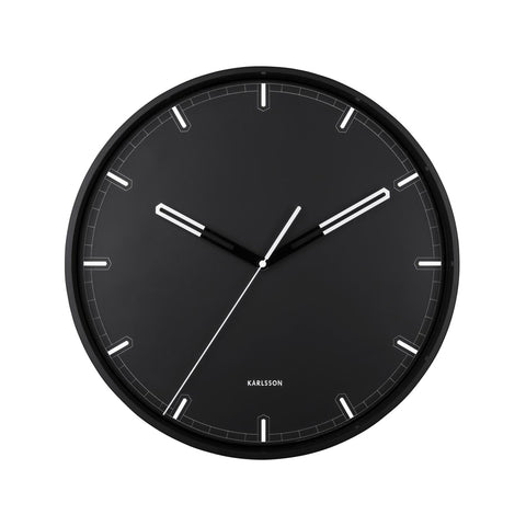 'Dipped' Black And White Wall Clock