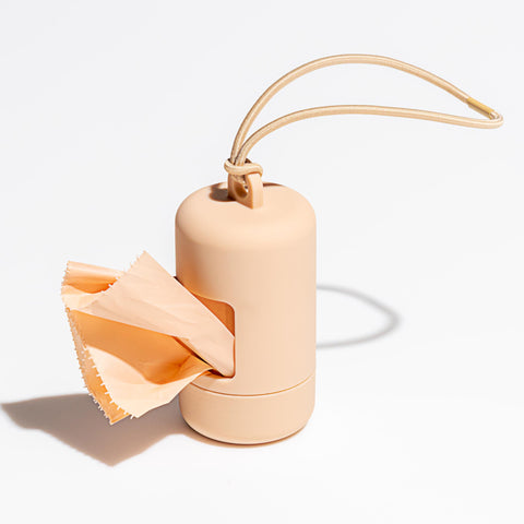 Poop Bag Carrier - Tan Wild One