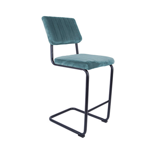 Bar Stool - Sky Blue (Velvet) - Five And Dime