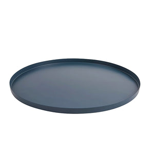 Round Iron Tray - Teal