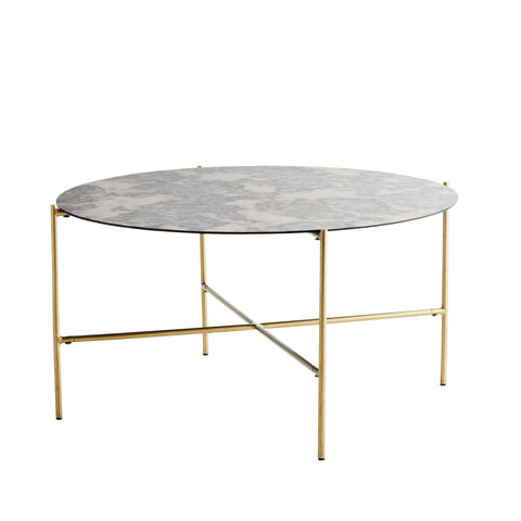 Oxidised Mirrored Coffee Table - Five And Dime
