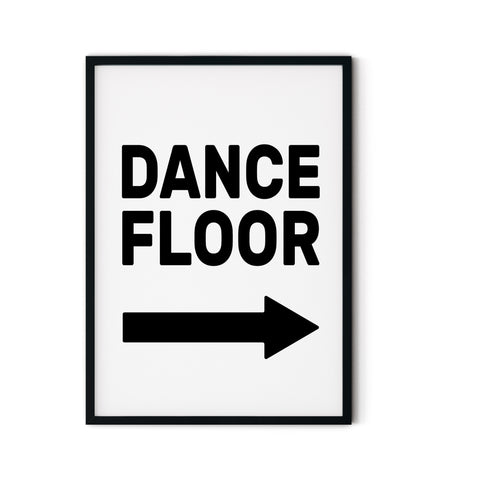 'Dance Floor' A3 Print - Five And Dime