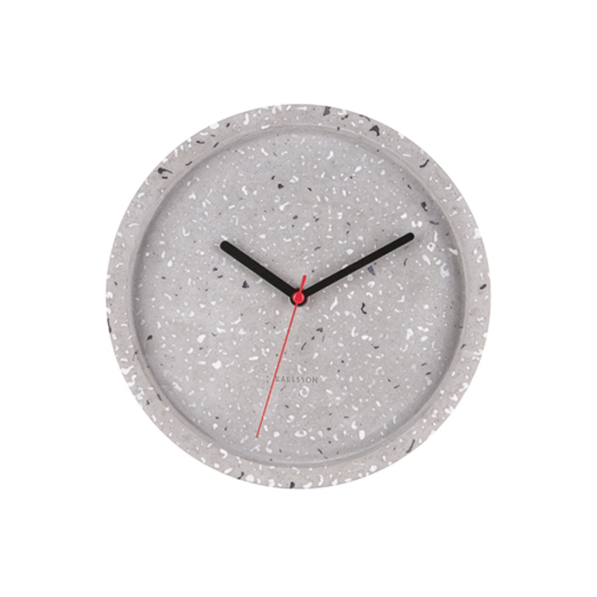 Grey Terrazzo Wall Clock - Five And Dime