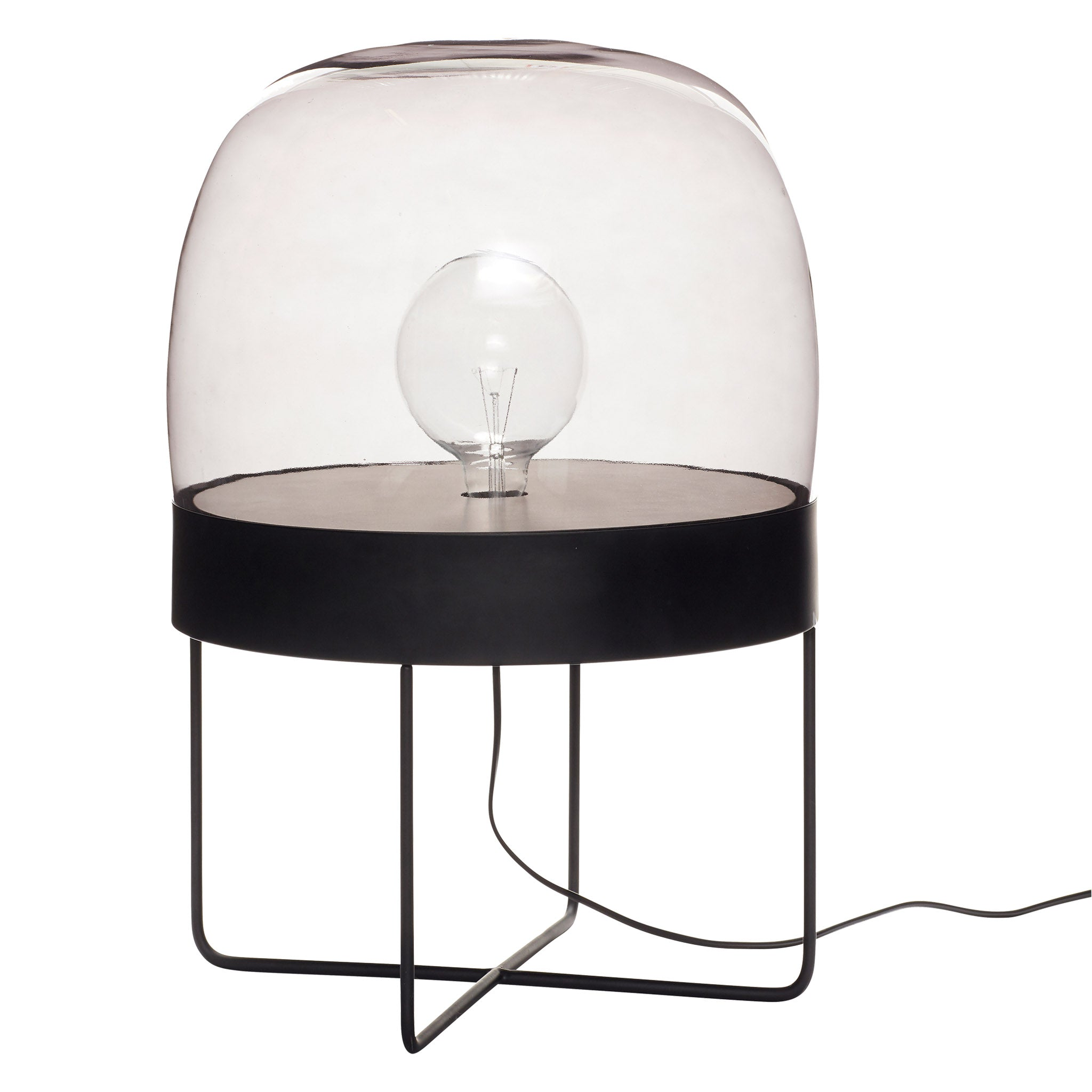 Floor Lamp - Black (Smoked Glass) - Five And Dime
