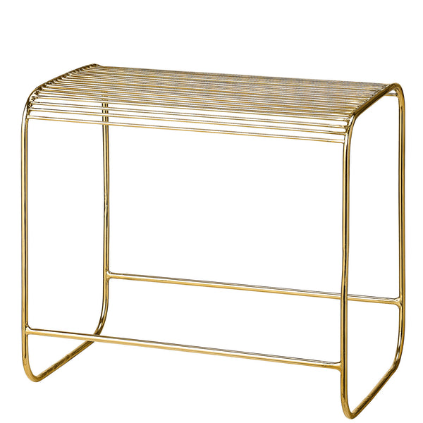 Gold Wire Stool - Five And Dime