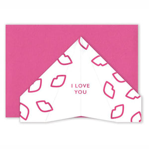 'I Love You' - Paper Plane Card - Five And Dime