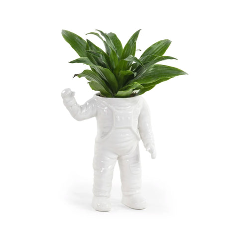 Astronaut Ceramic Planter Large - Five And Dime