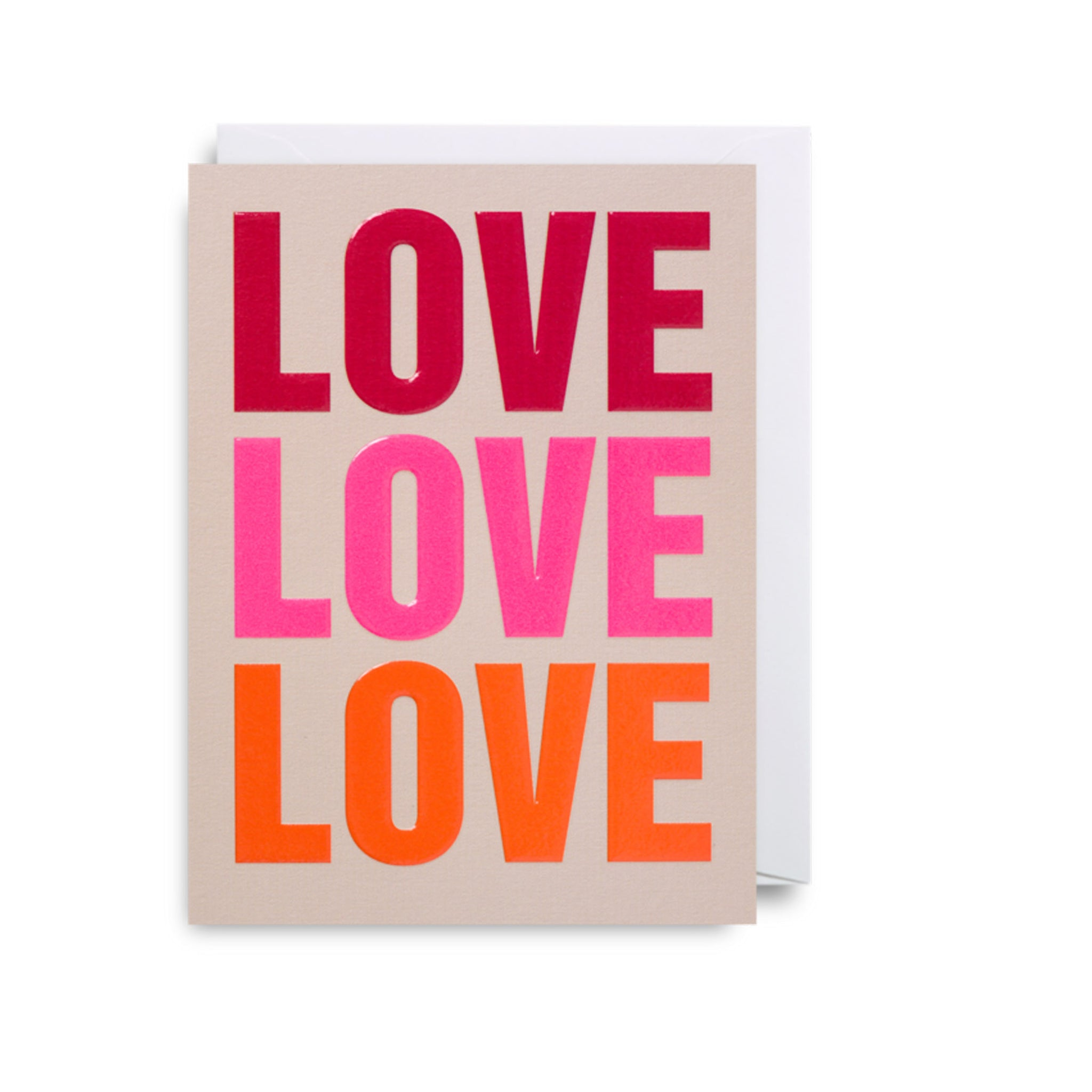 'Love Love Love' - Mini Card
