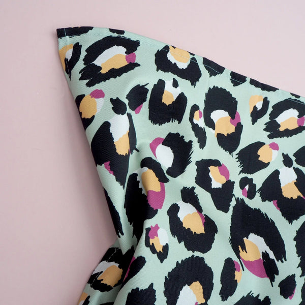Mint Leopard Print Tea Towel