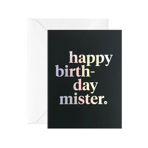 'Happy Birthday Mister' - Birthday Card - Five And Dime