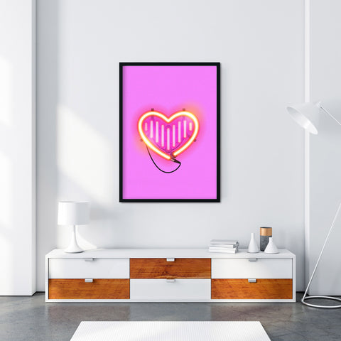 'Neon Insta Love' A3 / A4 Print - Five And Dime