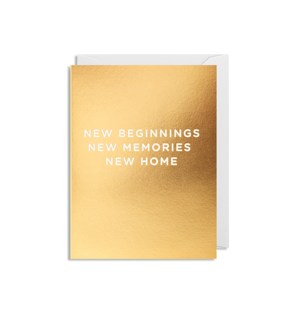 'New Beginnings New Home' - Mini Card - Five And Dime
