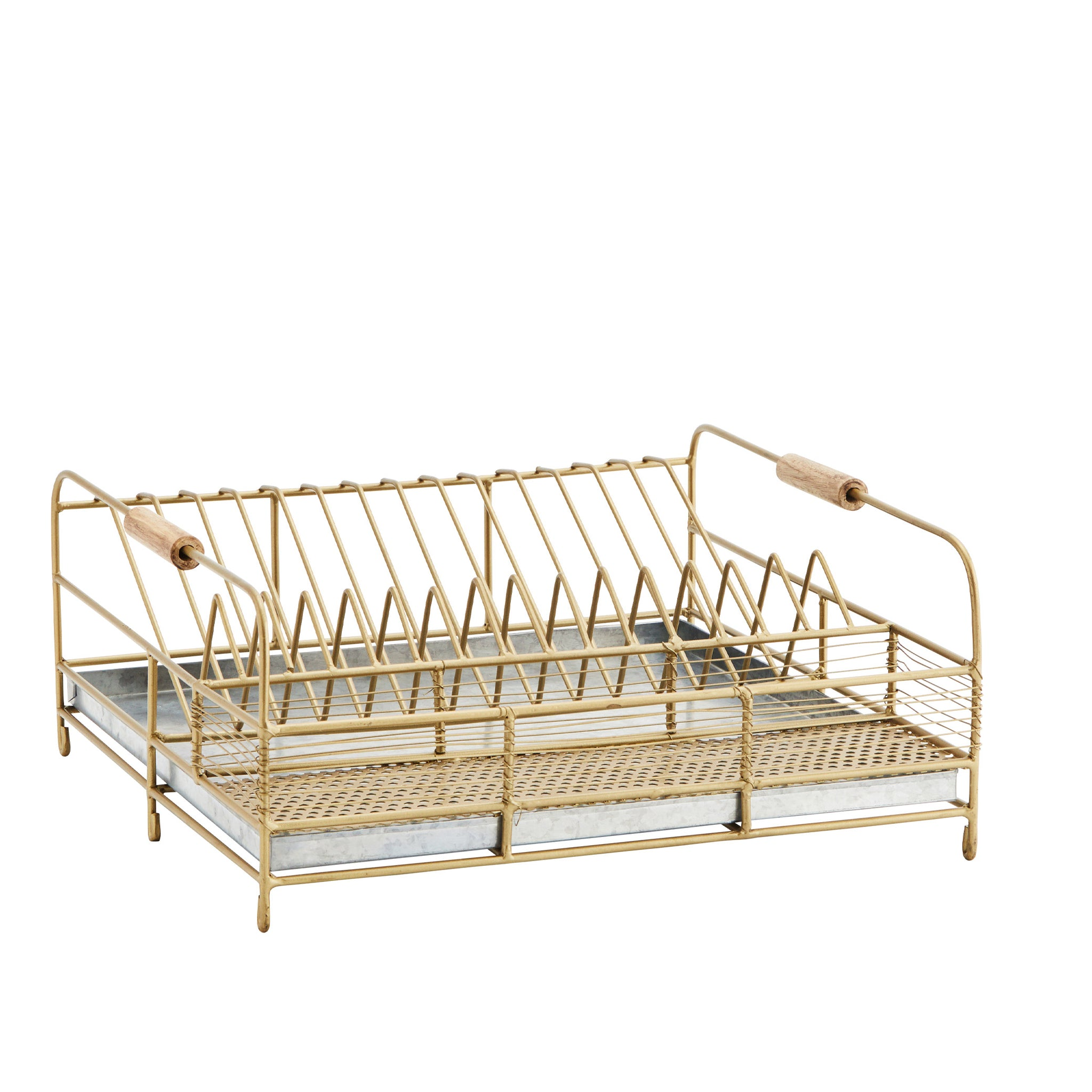 Handmade Iron Dish Rack With Drip Tray Madam Stoltz