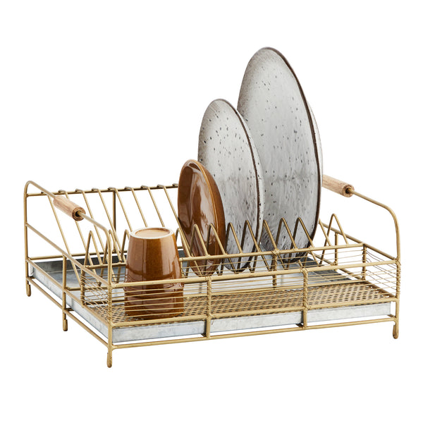 Handmade Iron Dish Rack With Drip Tray