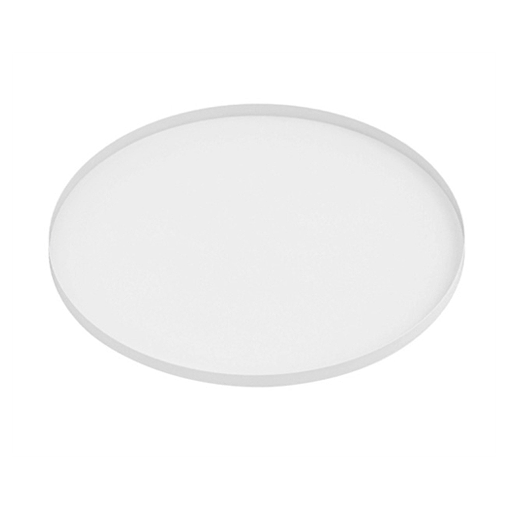 Round Iron Tray - White - Five And Dime