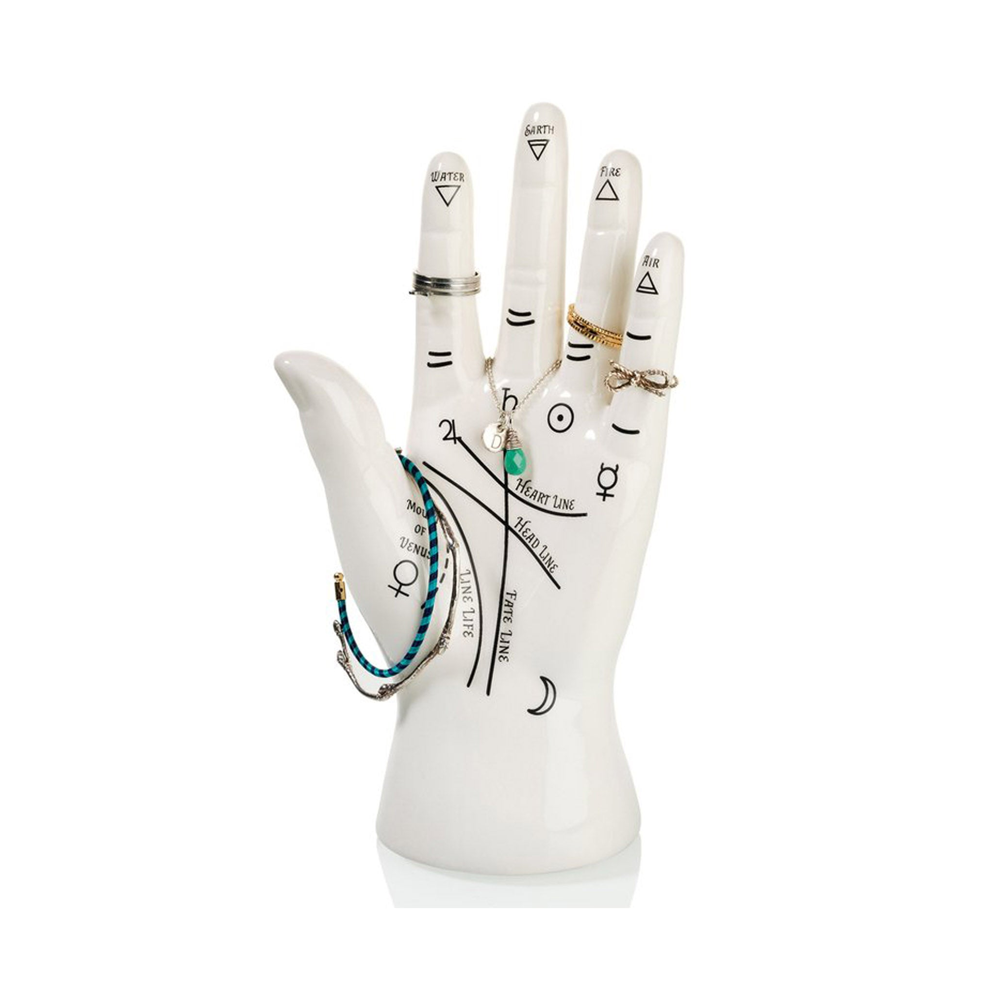 'Palmistry' Hand Jewellery Holder - Five And Dime