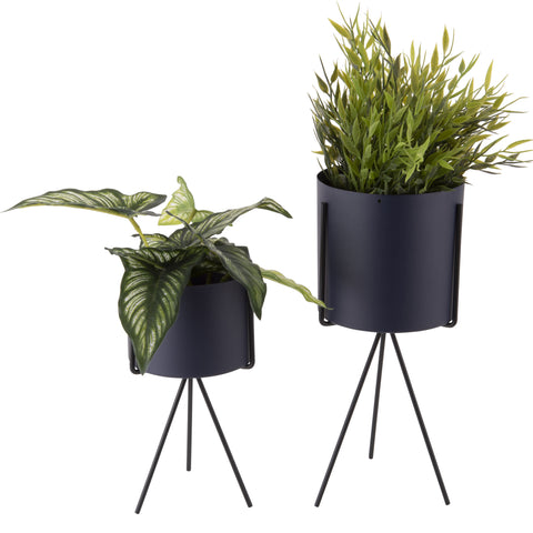Set of 2 Plant Stands - Night Blue