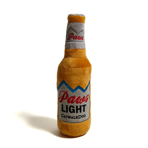 'Paws Light Beer' - Plush Dog Toy