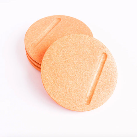 Set Of 4 Round Coasters - Peachy Pink