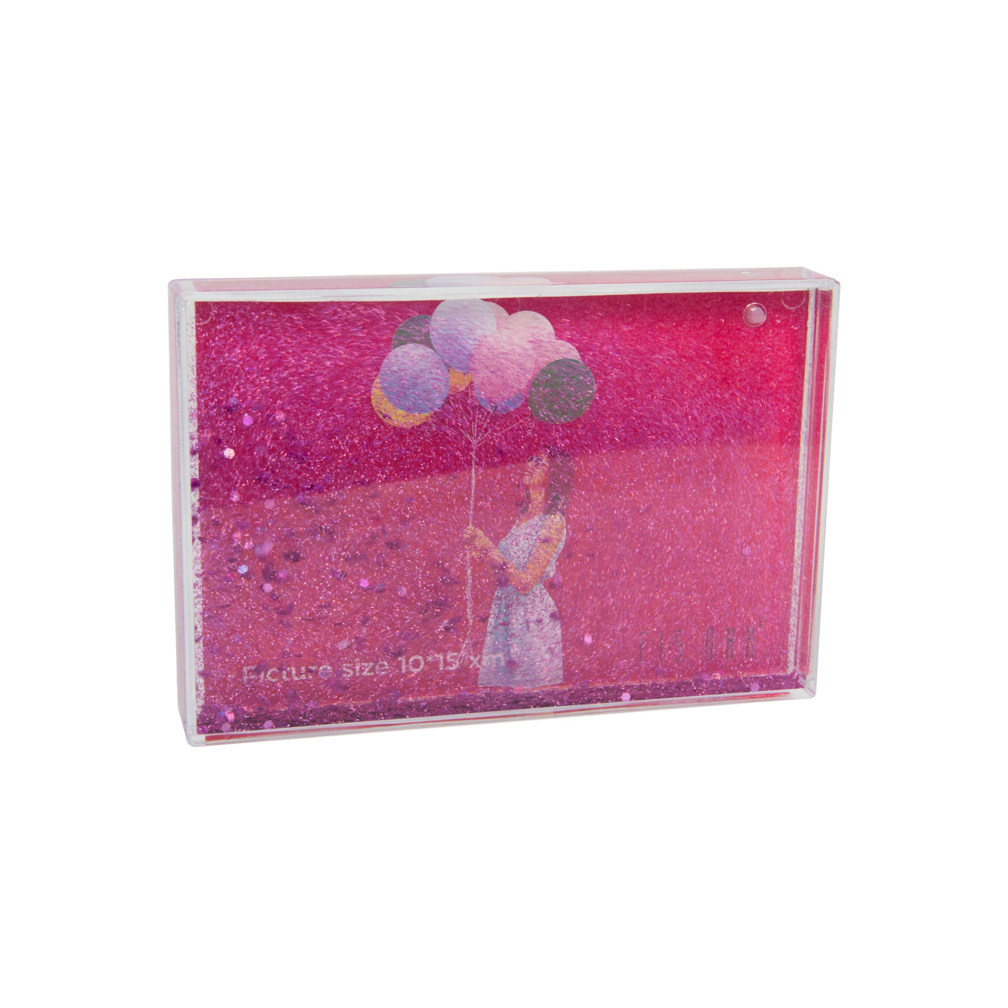 Pink Glitter Photo Frame - Five And Dime