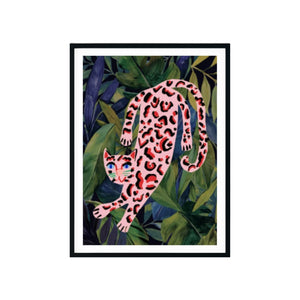 Tropical Pink Leopard Print A4 - Five And Dime