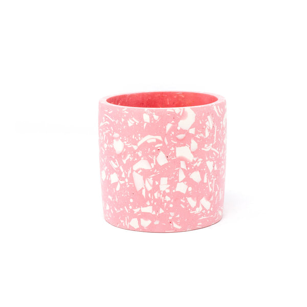 Pink & White Terrazzo Pot - Medium - Five And Dime