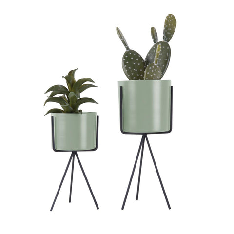 Set of 2 Plant Stands - Soft Green