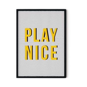 'Play Nice' A3 Print - Five And Dime