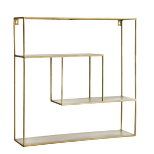 Quadratic Iron Shelf - Antique Brass Finish - Five And Dime