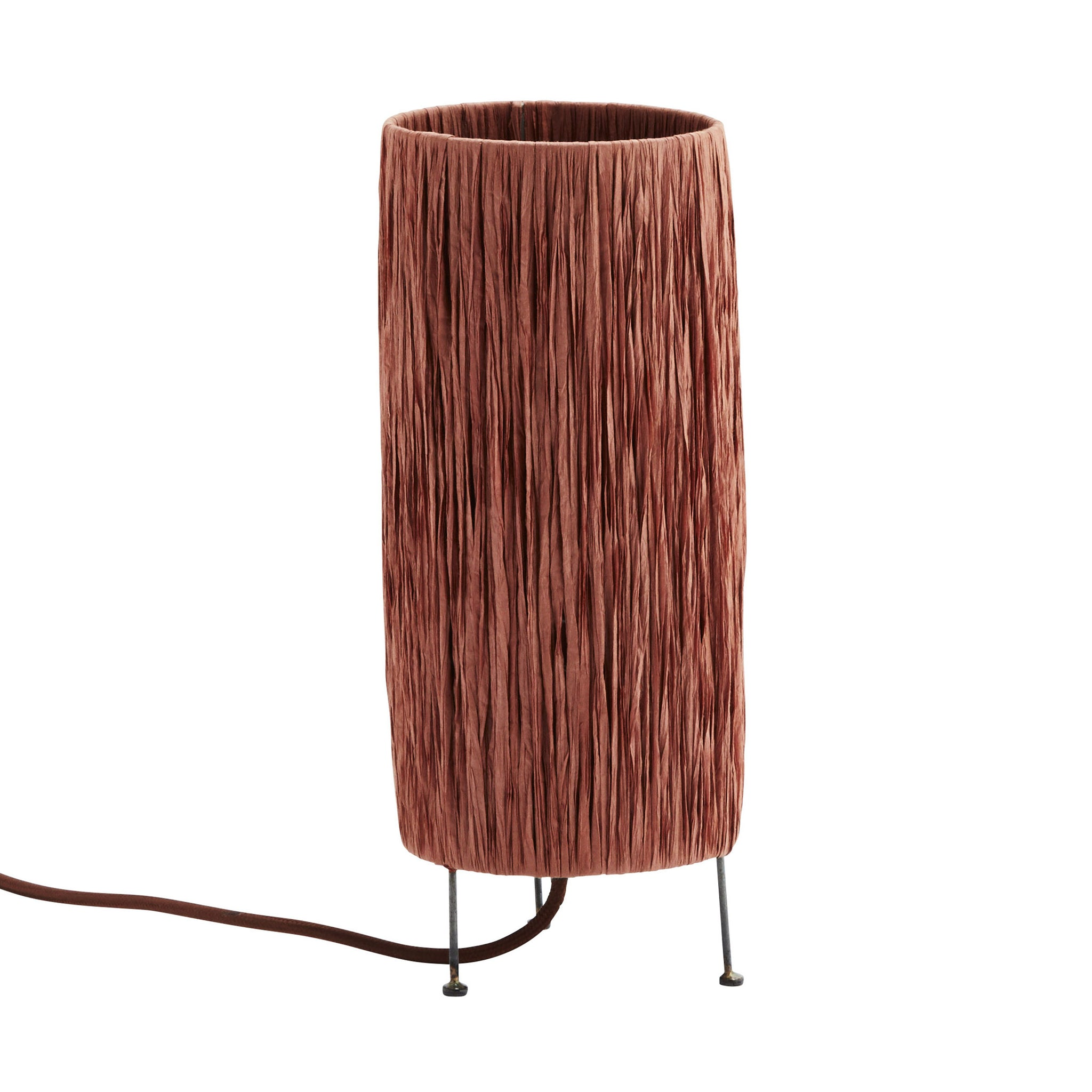 Raffia Palm 'Rust' Table Lamp