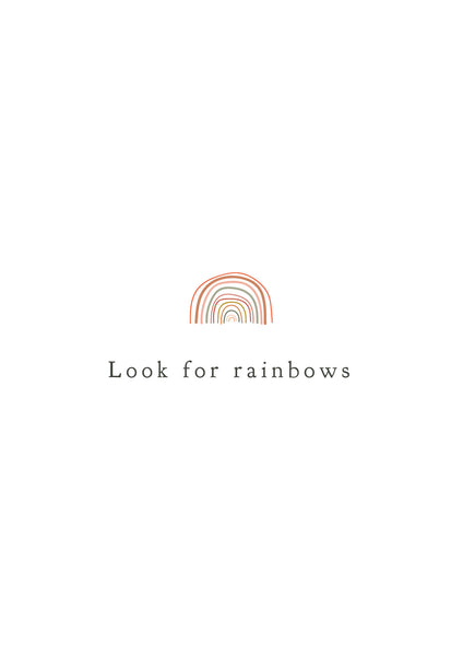 'Look For Rainbows' A3 Print - Five And Dime