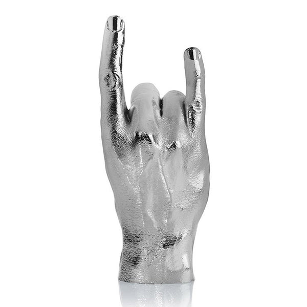 Silver 'Rock On' Hand Sculpture / Jewellery Holder - Five And Dime