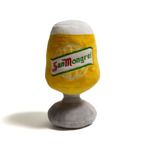 'San Mongrel Beer Glass' - Plush Dog Toy
